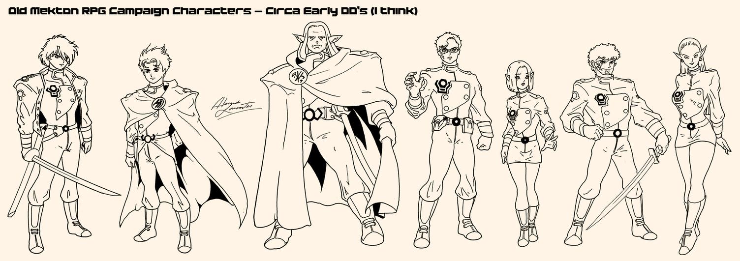 Old RPG Characters (velhos personagens de RPG) by AlexandreLancaster