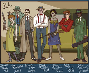 Jazz Age Justice League by genesischant