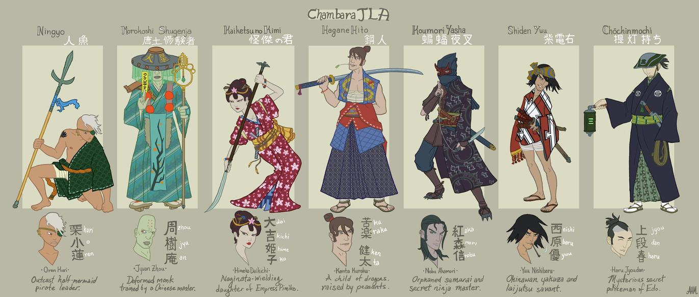 Chambara JLA: The Full Roster by genesischant