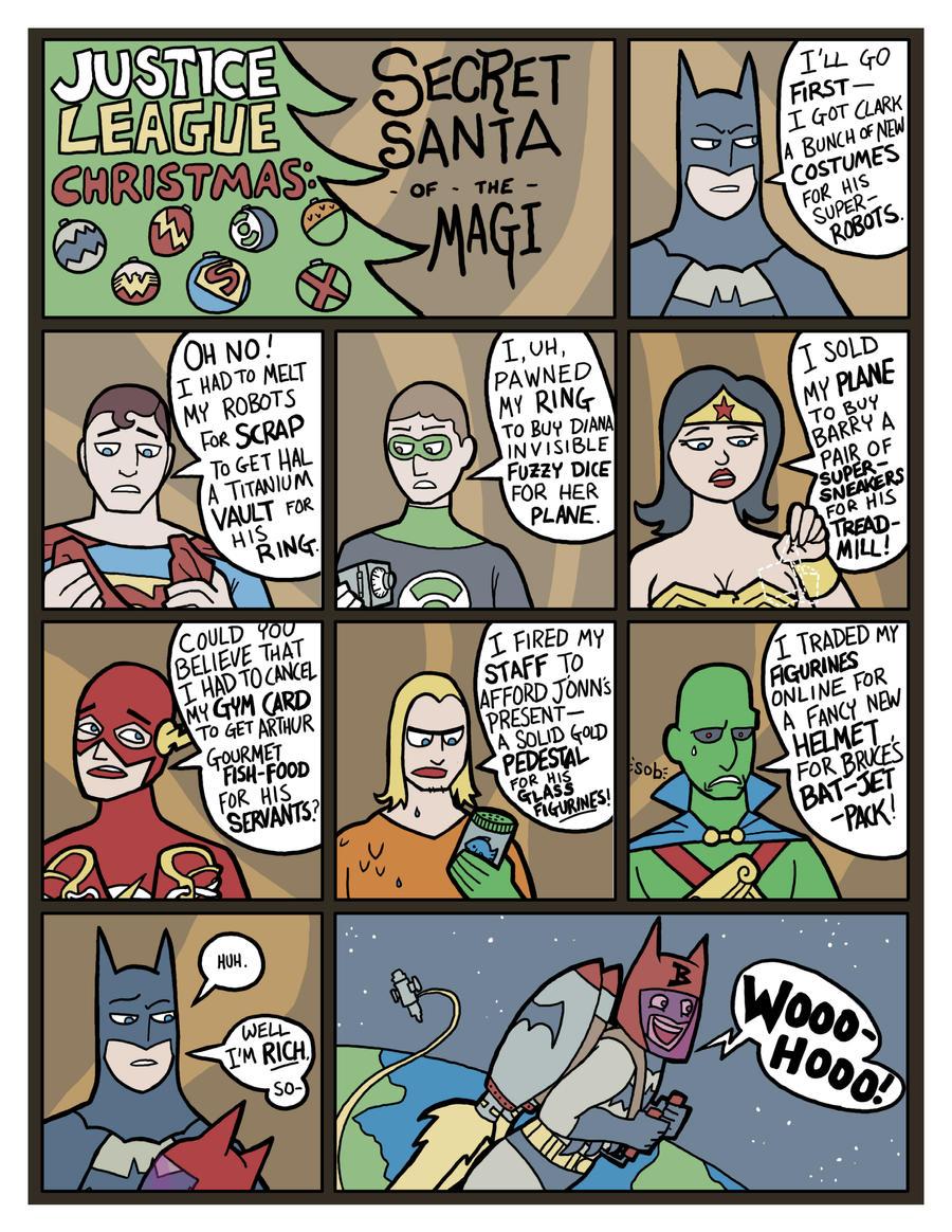 Justice League Secret Santa by genesischant