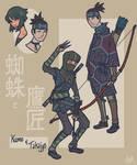Sengoku Avengers: Black Widow and Hawkeye