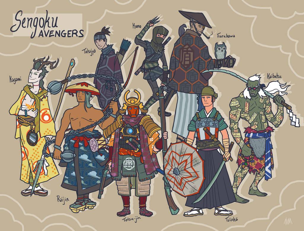 Sengoku Avengers: Full Roster
