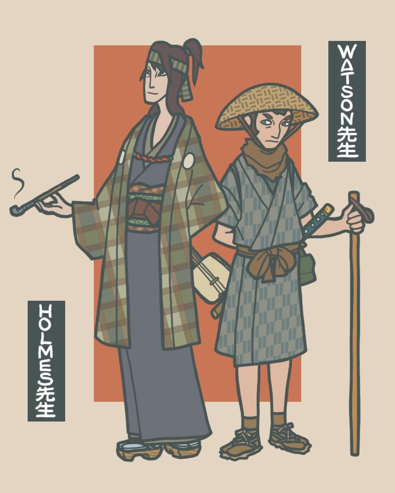 Samurai Sherlock by genesischant