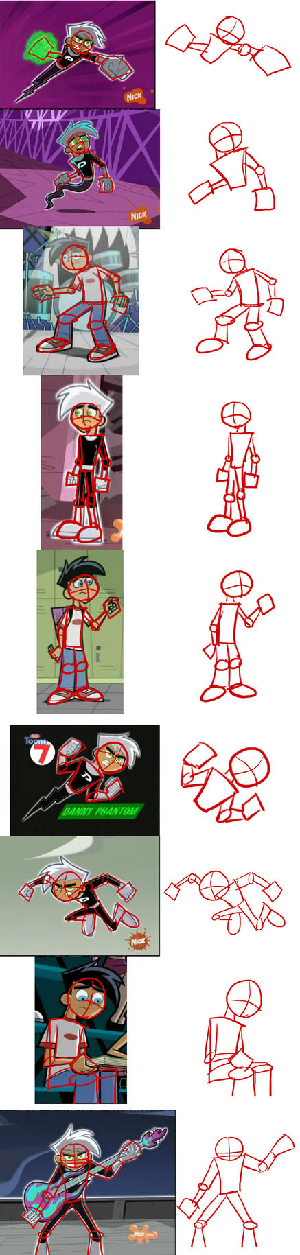 DP Poses and Proportions Reference by icantunloveyou