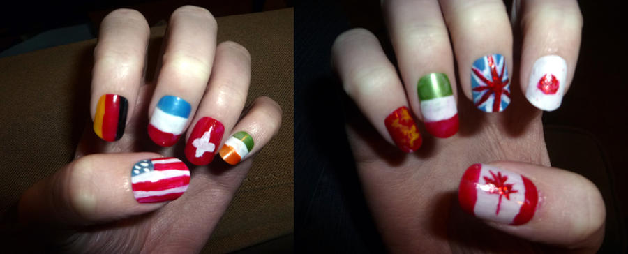 Flags of the World Nails by icantunloveyou on DeviantArt