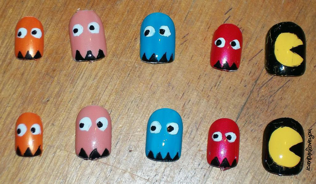 Pac man nails by icantunloveyou on deviantart pac man nails by icantunloveyou prinsesfo Image collections