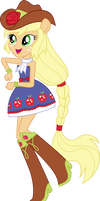 Applejack Dance Vector UPDATE V2 by Sugar-Loop