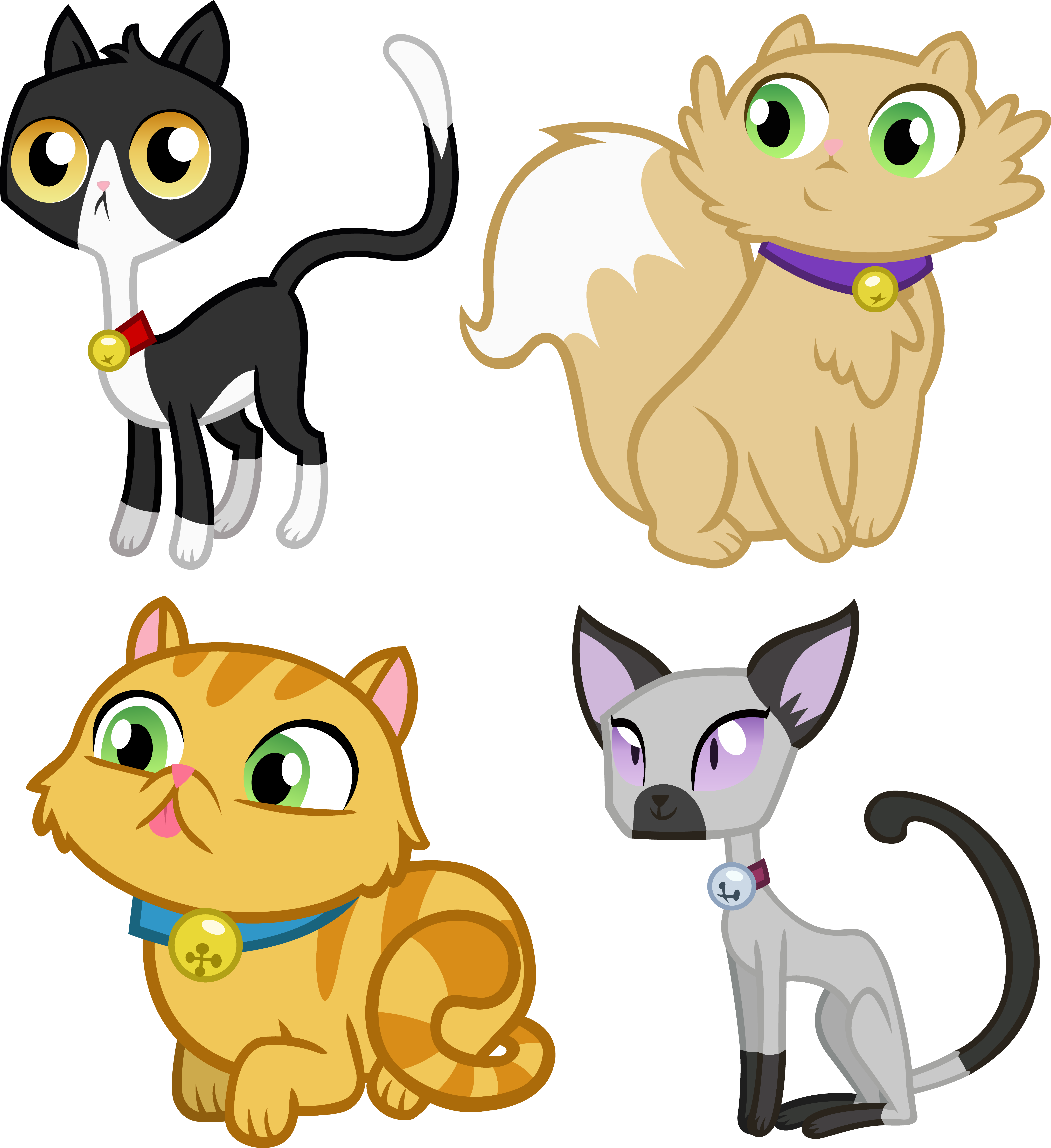 MLP Cats by icantunloveyou