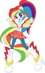 Rainbow Rocks Rainbow Dash Vector