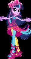 Neon Rainbow Rocks Twilight Sparkle Vector