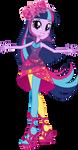 Neon Rainbow Rocks Twilight Sparkle Vector by Sugar-Loop