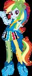Neon Rainbow Rocks Rainbow Dash Vector by Sugar-Loop