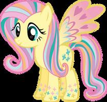 Rainbow Power Fluttershy Vector by Sugar-Loop