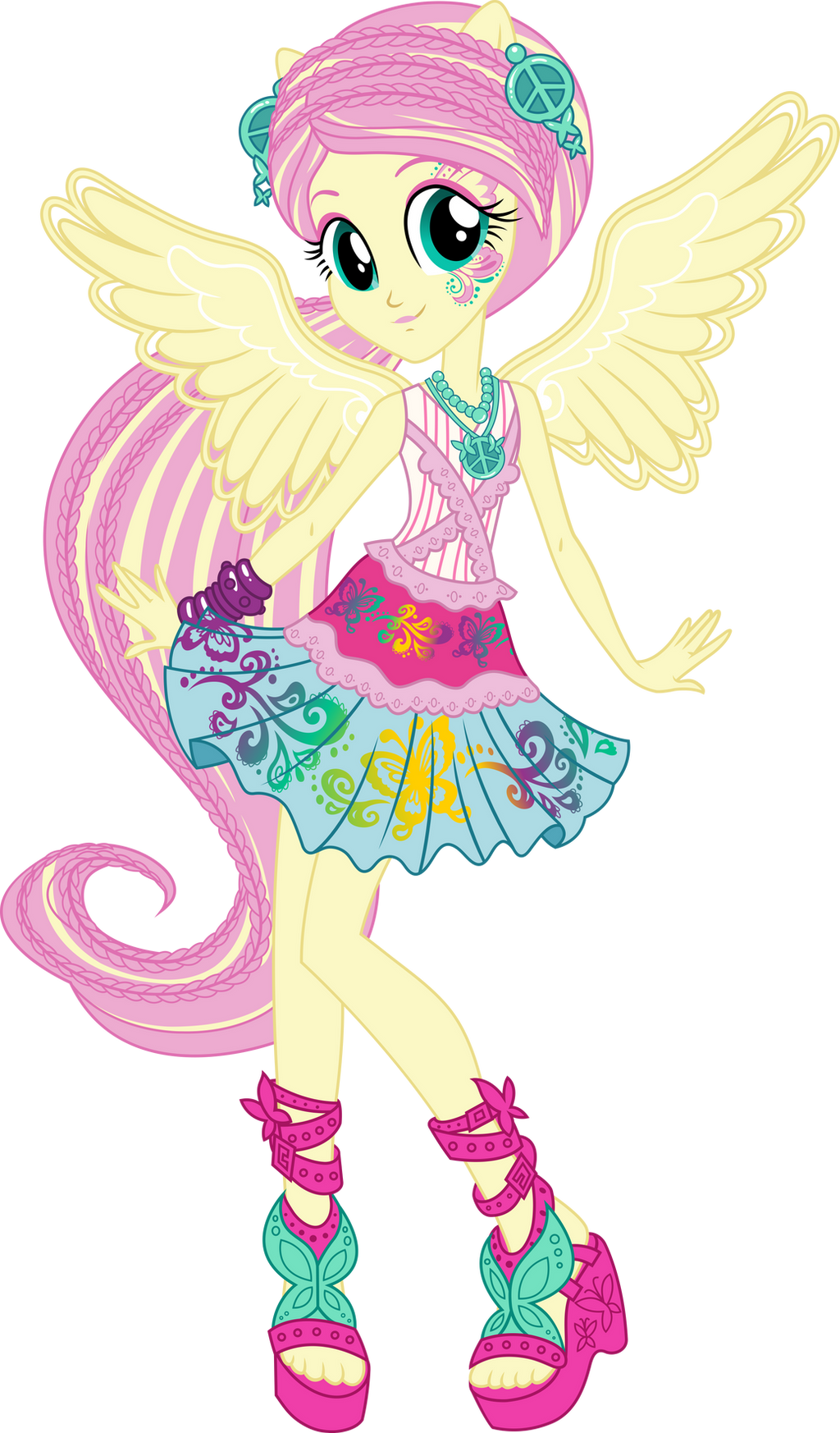 Rockin Hair Fluttershy Vector By Icantunloveyou On Deviantart