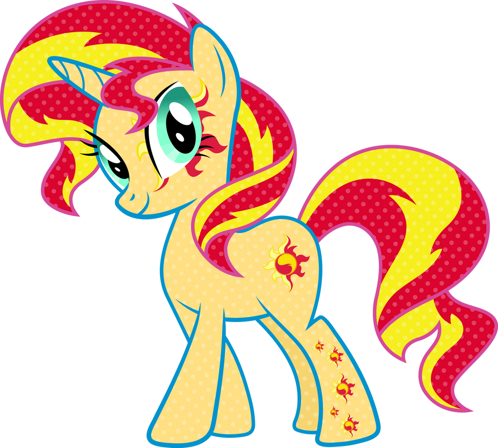 Cutie Mark Magic Sunset Shimmer Vector By Icantunloveyou