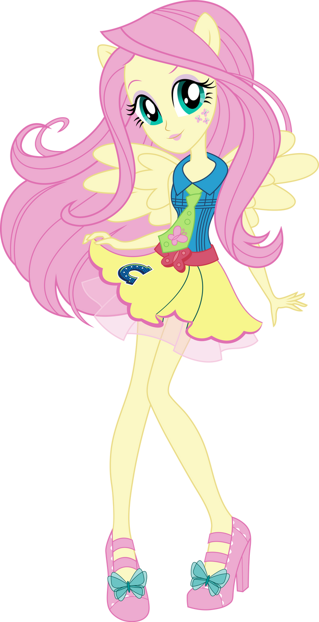 School Spirit Fluttershy Vector By Icantunloveyou On Deviantart