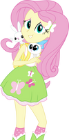 Equestria Girls Fluttershy Vector by Sugar-Loop