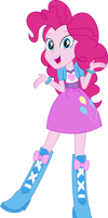 Equestria Girls Pinkie Pie Vector by Sugar-Loop