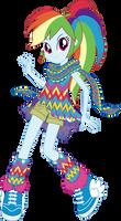 Geometric Style Rainbow Dash Vector