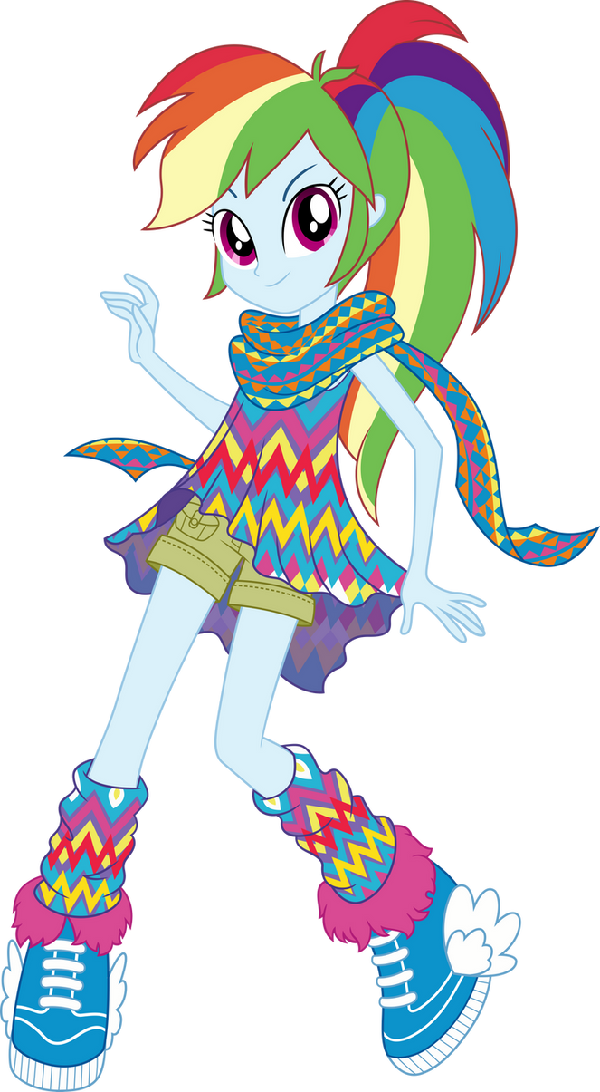 Geometric Style Rainbow Dash Vector by icantunloveyou