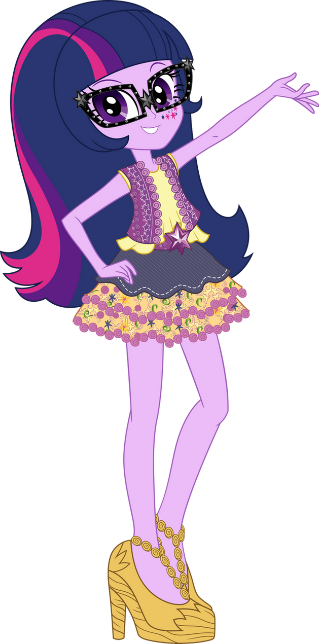 Legend of Everfree Boho Twilight Sparkle Vector by icantunloveyou