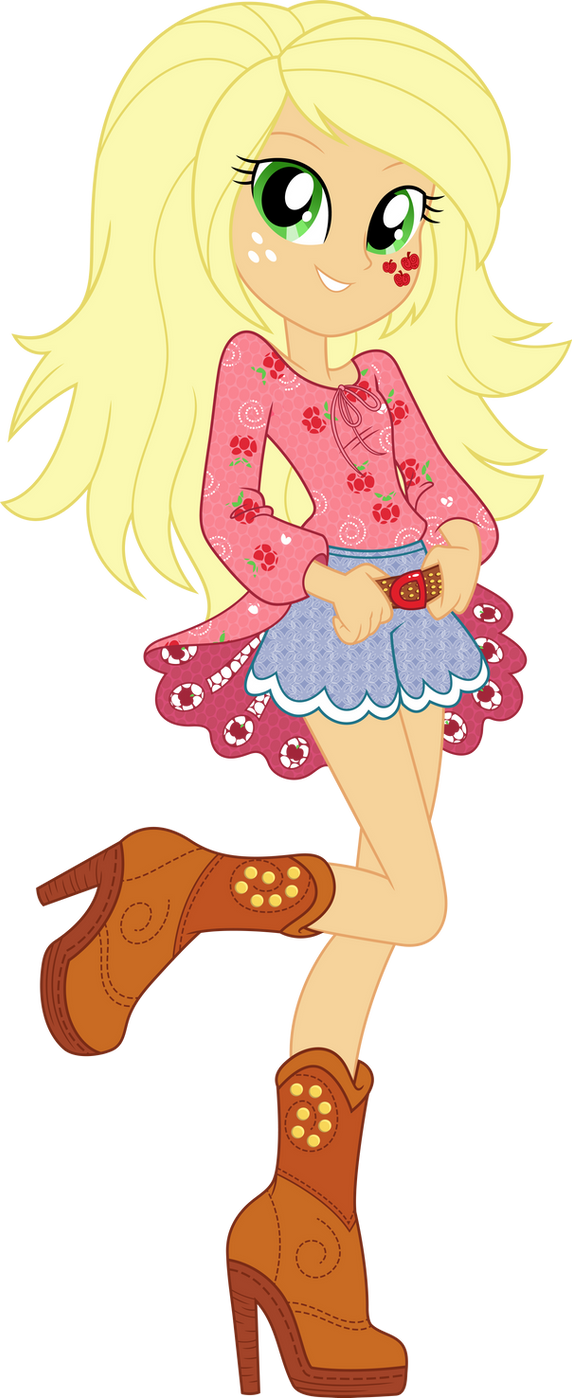 Legend of Everfree Boho Applejack Vector by icantunloveyou