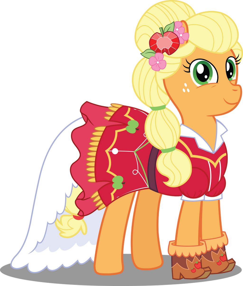 pony crystal gala applejack by icantunloveyou on deviantart