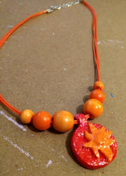 Sunset Shimmer's Crystal (Clay) Necklace by Sugar-Loop