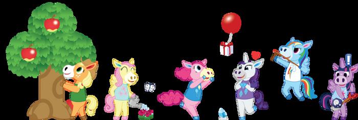 My Little Crossing - Ponies by Sugar-Loop