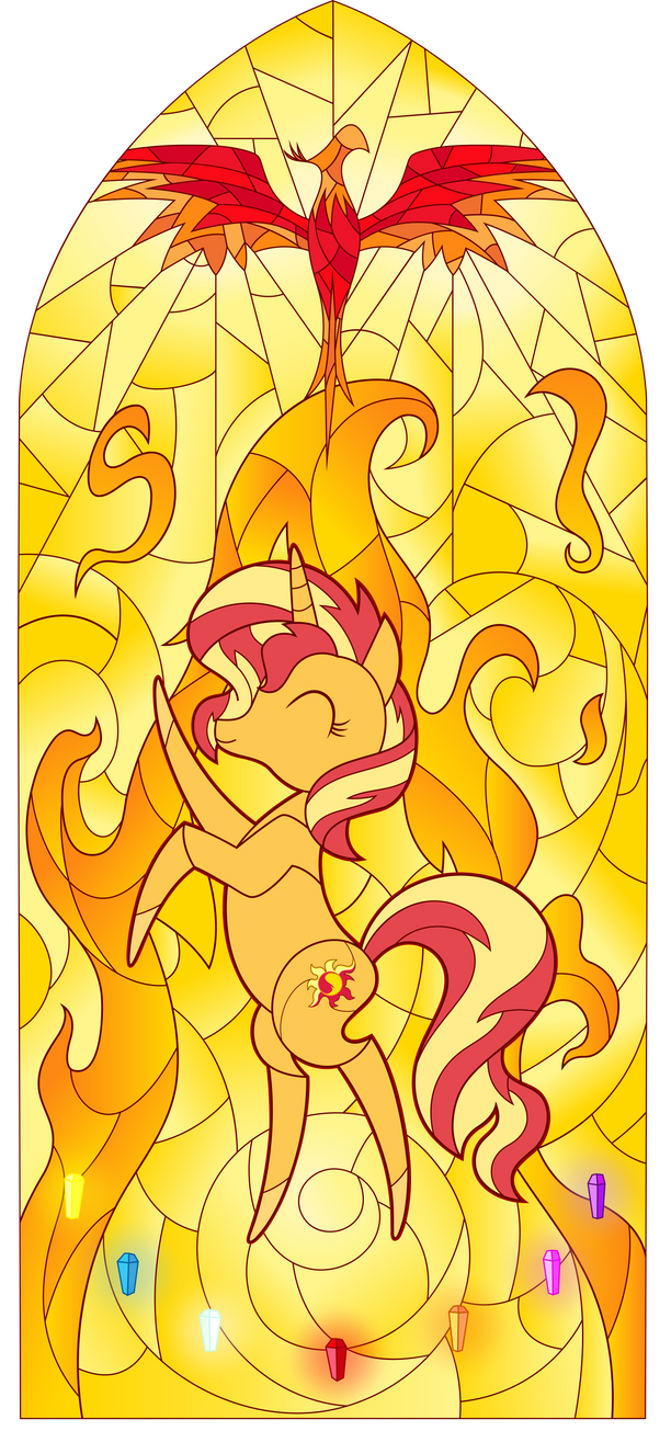 Sunset Shimmer Stained Glass