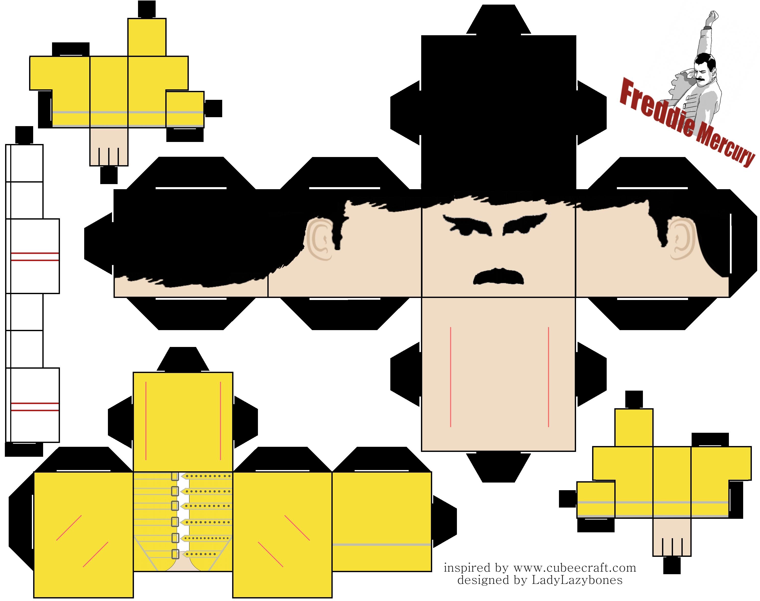 Freddie Mercury cubeecraft by LadyLazybones
