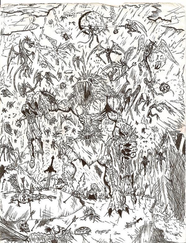 war between heaven and hell by postmortem90 on DeviantArt