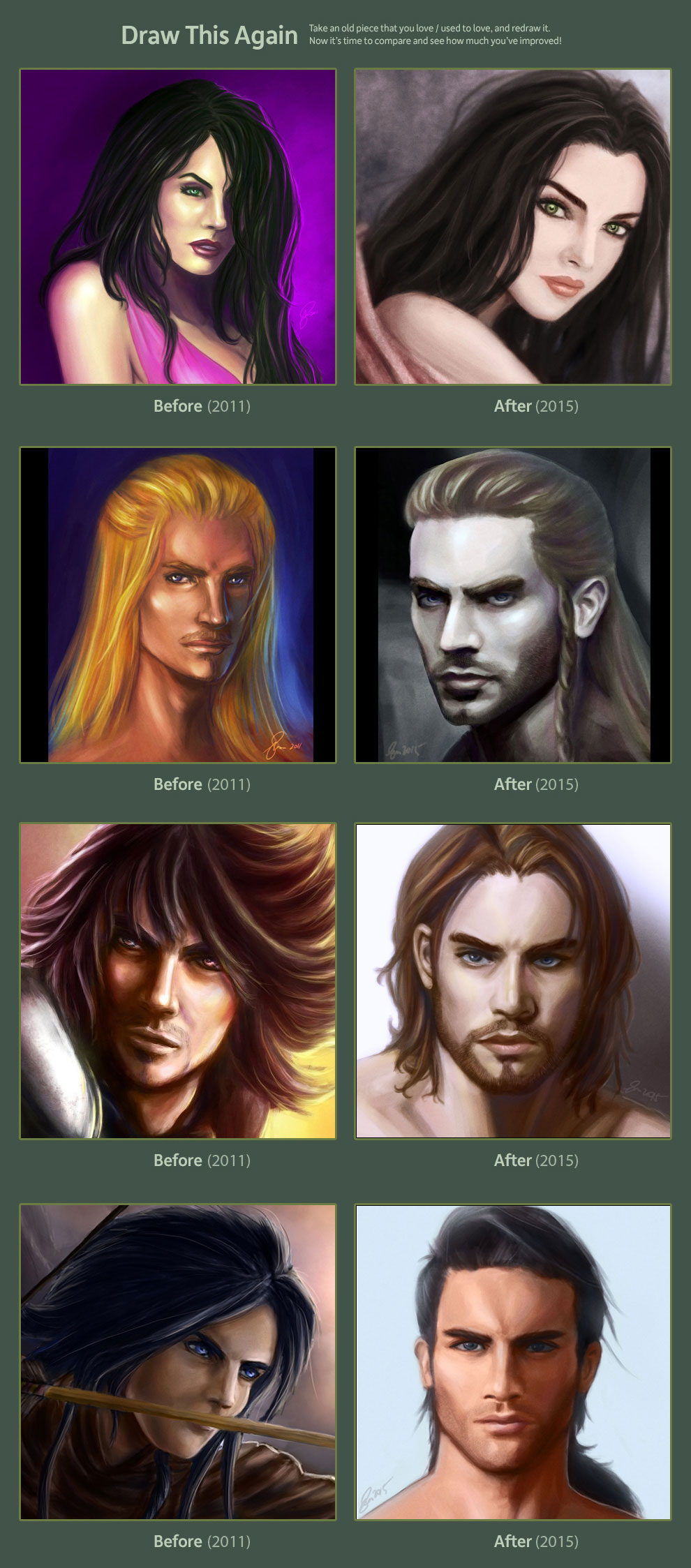 Draw This Again 2011 vs 2015 COMPLETED
