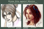 Draw This Again 2010 v 2017 : Colored Sketch