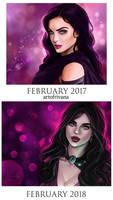 Valentine 2017 vs 2018