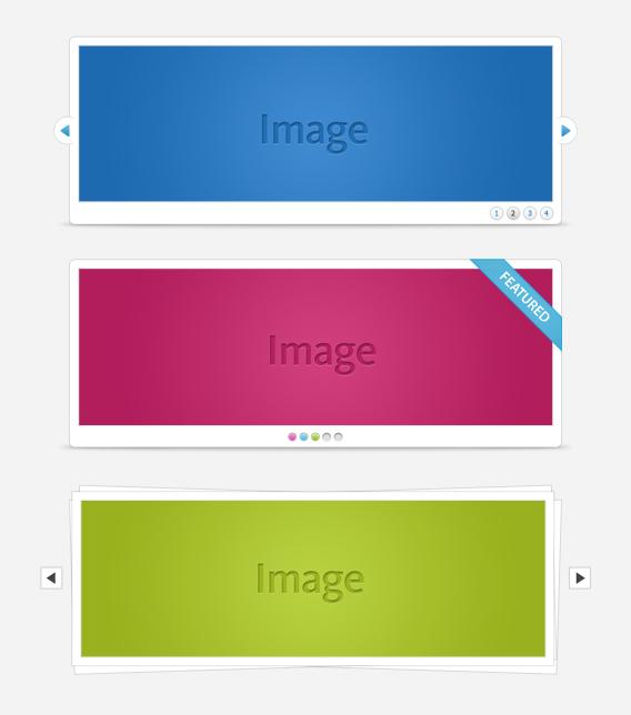PSD-HTML Sliders Vol.1 by elemis