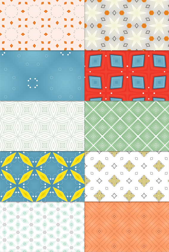 10 Abstract Patterns Vol.1