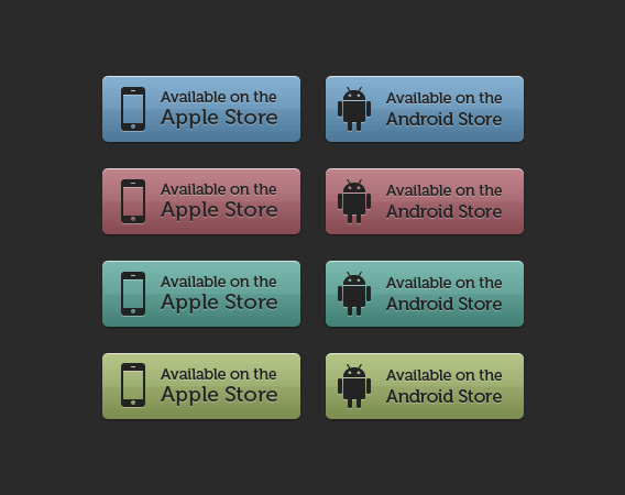 Apple - Android Store Buttons by elemis