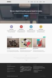 Marble Free Homepage PSD by elemis