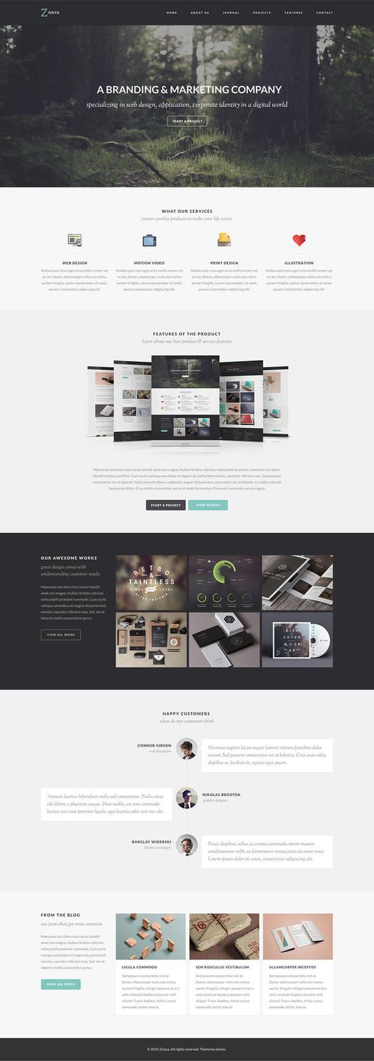 Zonya Free Homepage PSD by elemis