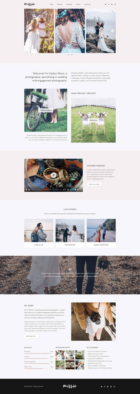 Missio Lite - Free Onepage Template