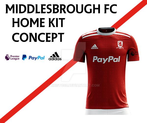 Middlesbrough FC Home Kit By Kristo95 On DeviantArt