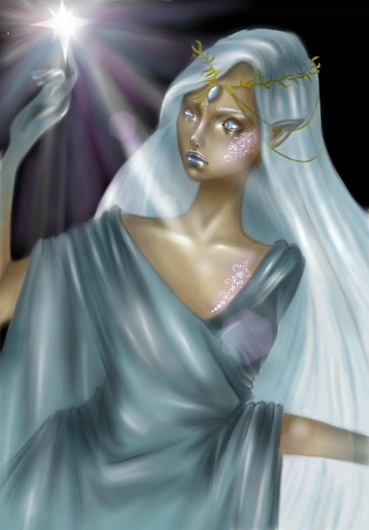 The Silmarillion || Varda, queen of stars by Peachsart
