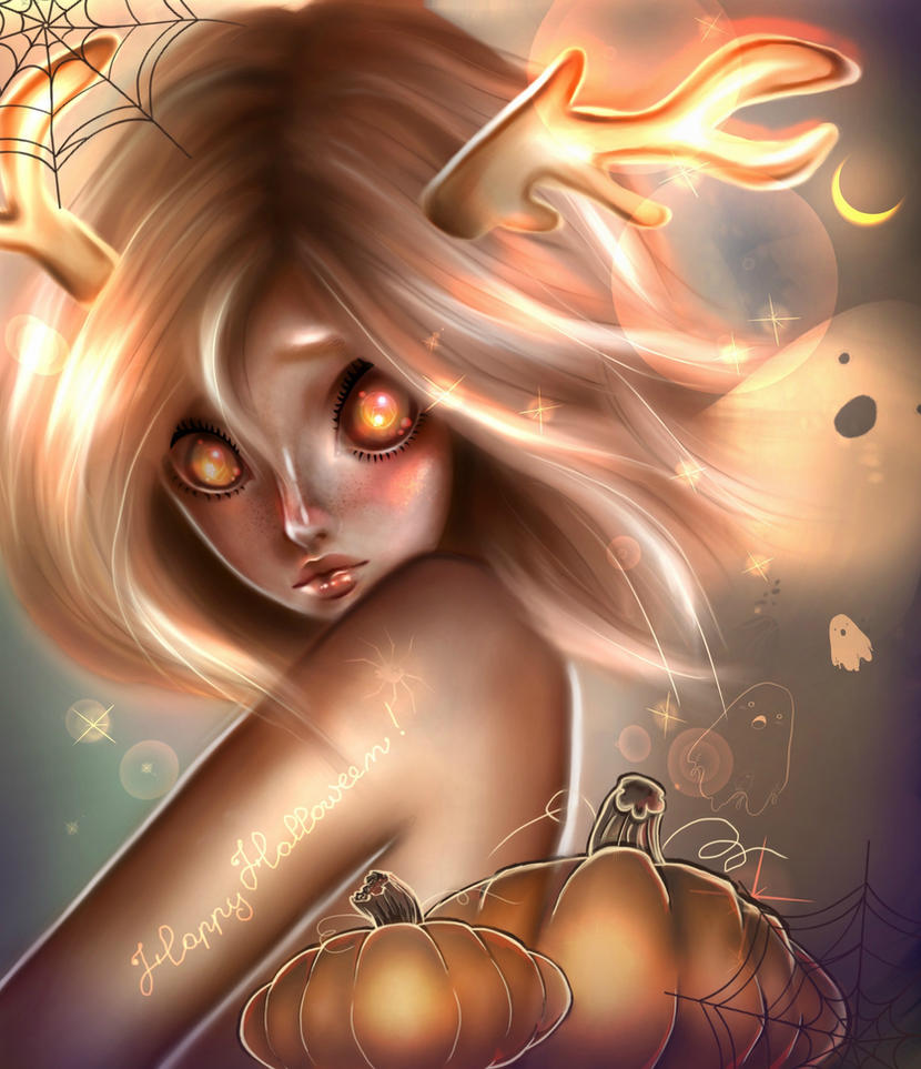Halloween fairy by Peachsart