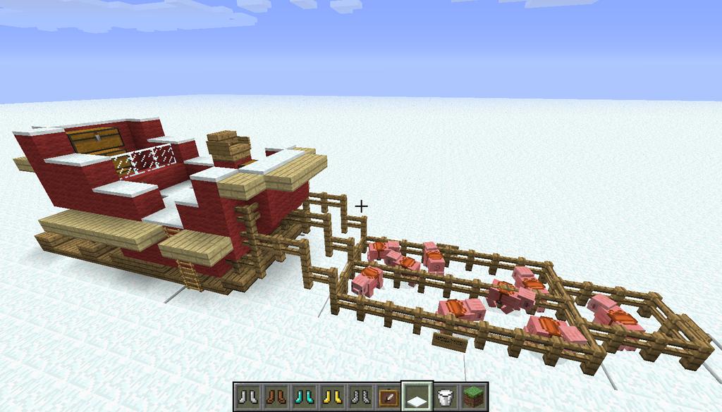 Santa's Sleigh in Minecraft by ninsplendido on DeviantArt