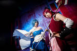 Madoka Magica-red and blue