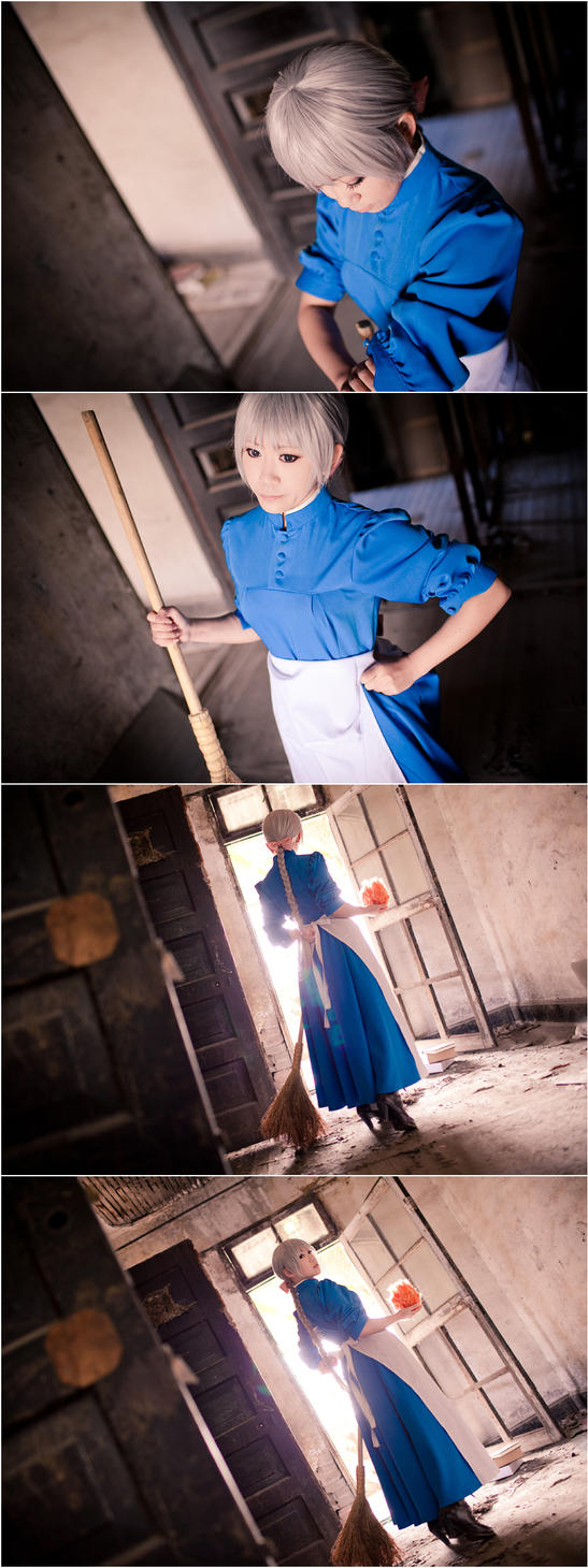 Howl's Moving Castle-A cleaning woman by Sakina666