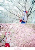 Touhou Projec - Mokou x Keine 02 by Sakina666