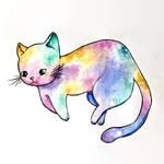 Water color galaxy cat!