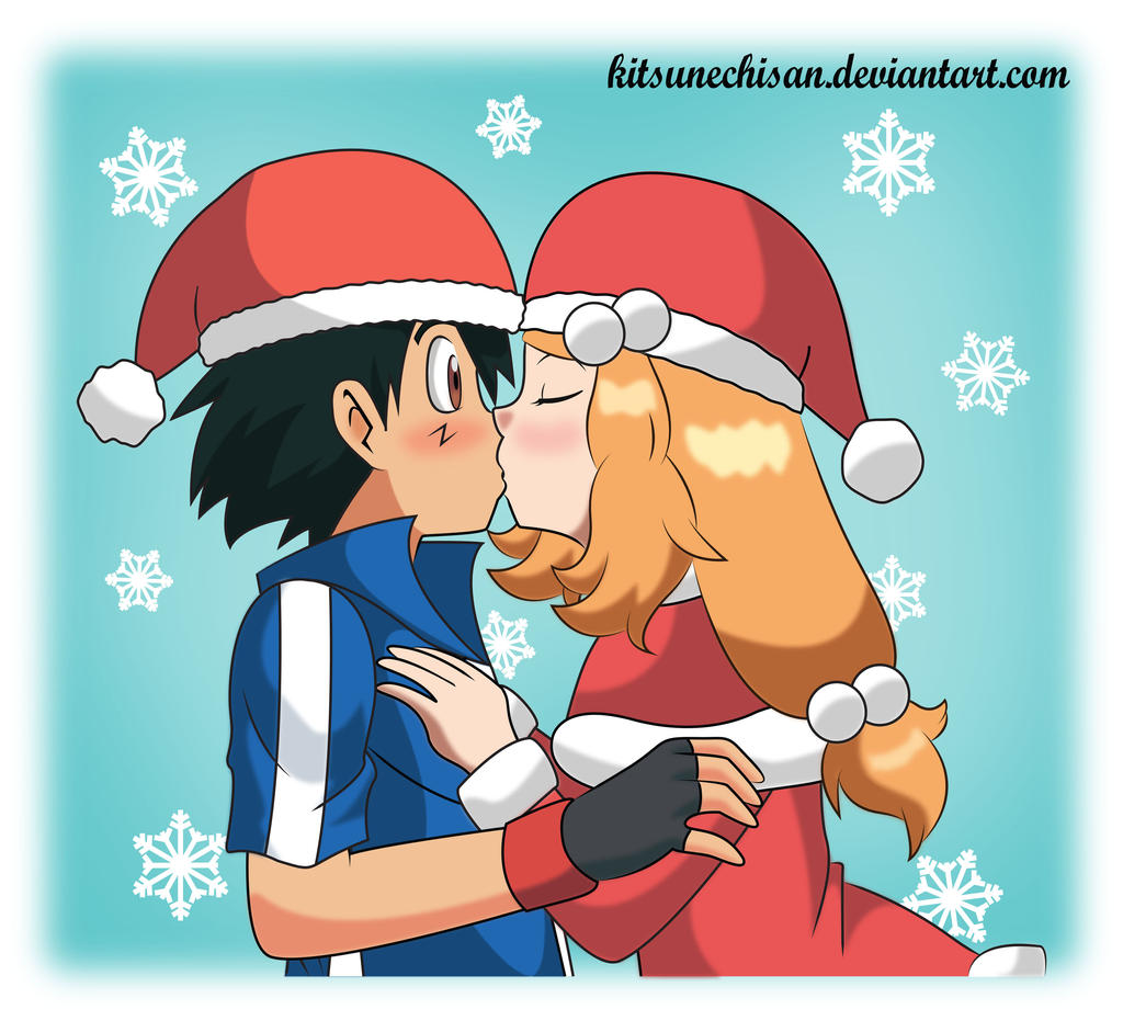 amourshipping all i want for christmas is you by kitsunechisan fan art    Amourshipping Fan Art